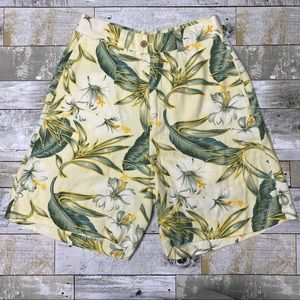 Tommy bahama silk hibiscus high waisted shorts